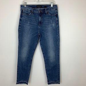 Lucky Brand Raw Hem Hayden Crop Jeans Size 12 !